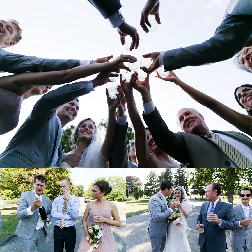 ct wedding outdoor family photo