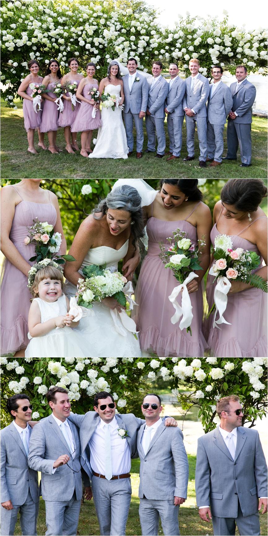 outdoor bridal party ct wedding