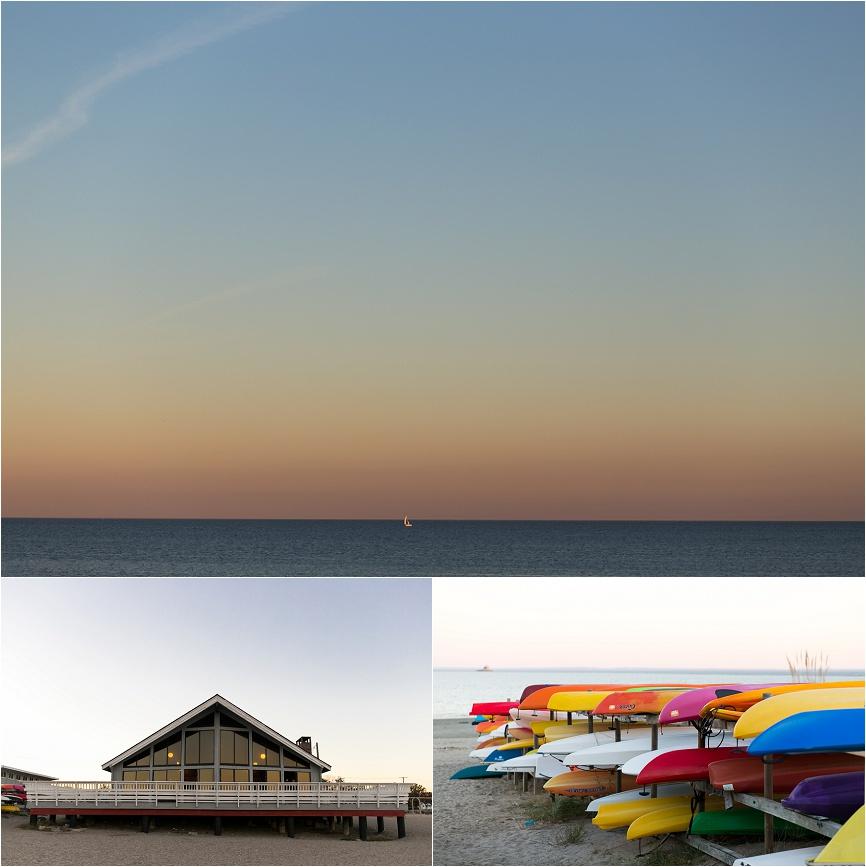 photos of ct beach wedding scenery penfield beach ct
