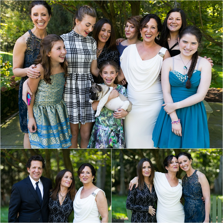 photo of bride with family in westport ct