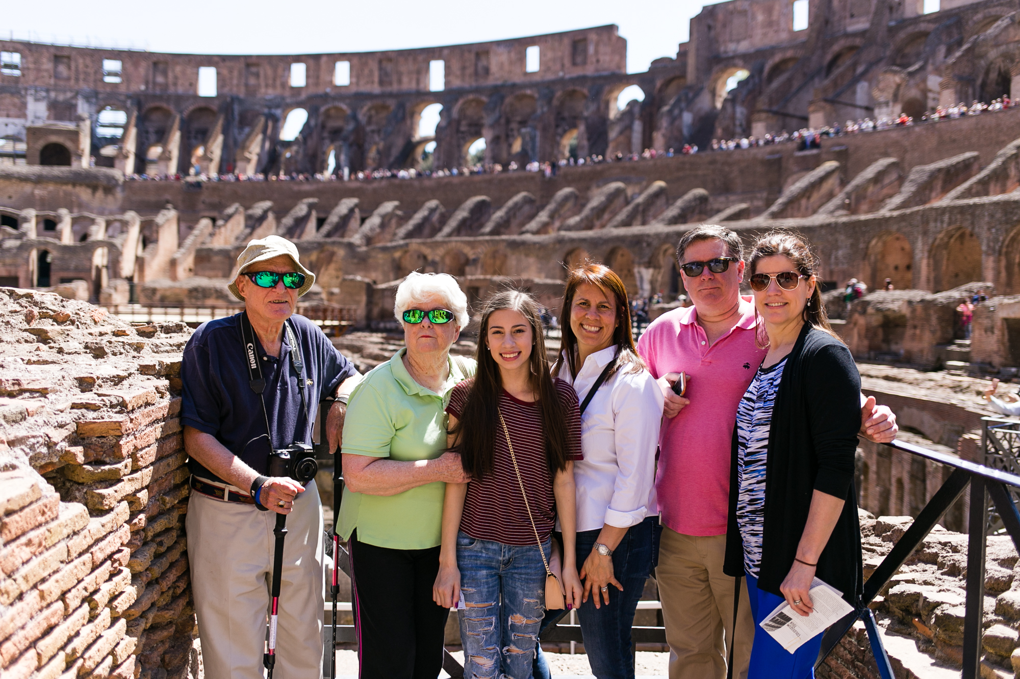 Photo of the Lundstroms at the Colisseum in Rome
