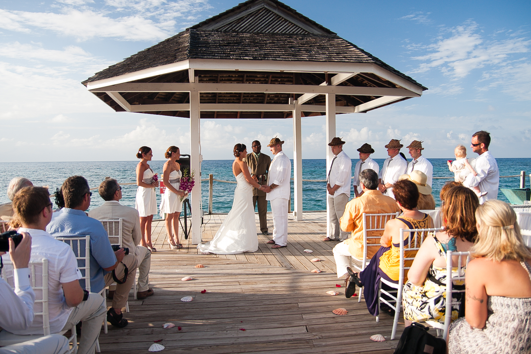 Photo of outdoor wedding in Jamaica Jeff Lundstrom Photography