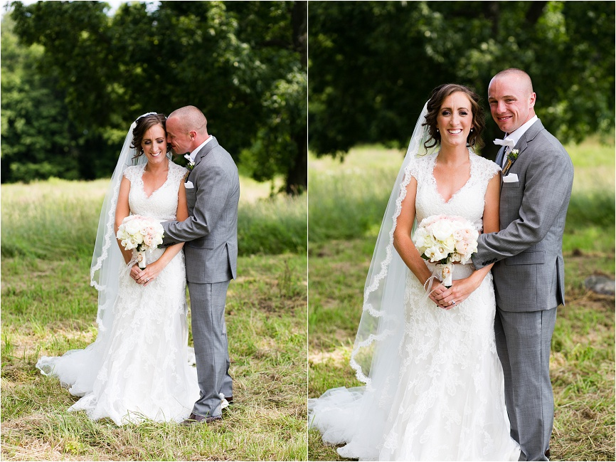Britany and Myke's farm was the perfect backdrop for outdoor wedding phots