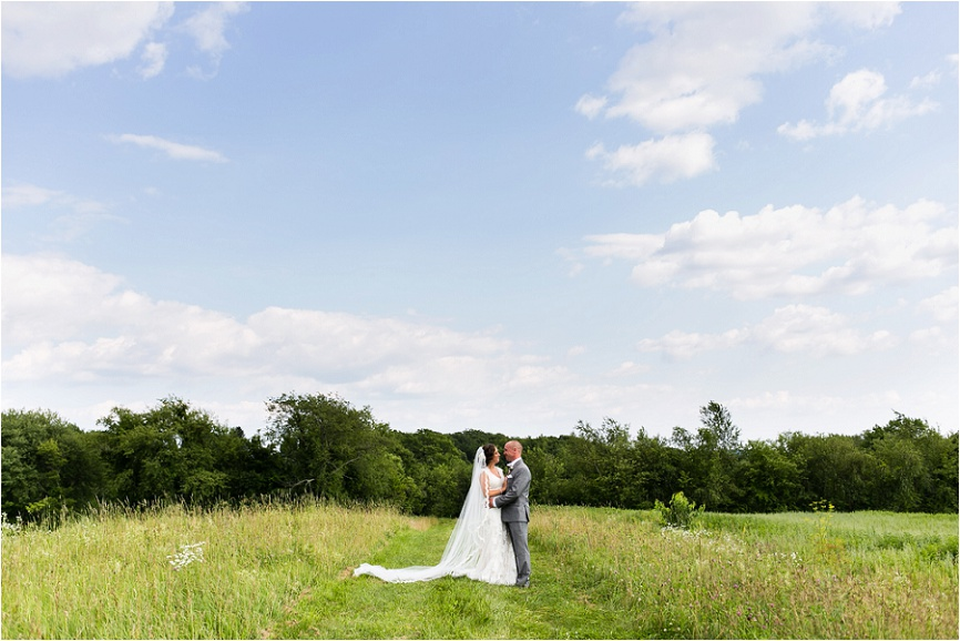 I love photographing brides and grooms outside in wide open spaces!