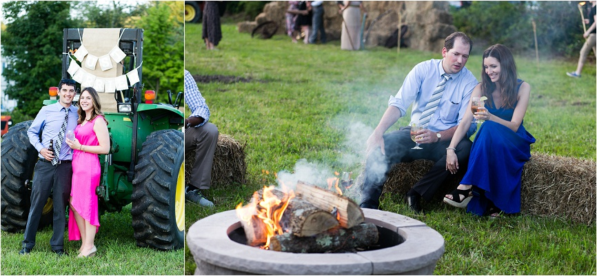 It wouldn't be a rustic farm wedding without a campfire