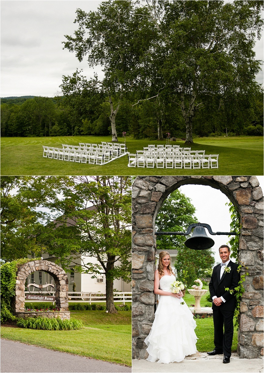 Photo of a rustic outdoor wedding at Candlelight Farms Inn in New Milford, CT by Jeff Lundstrom Photography