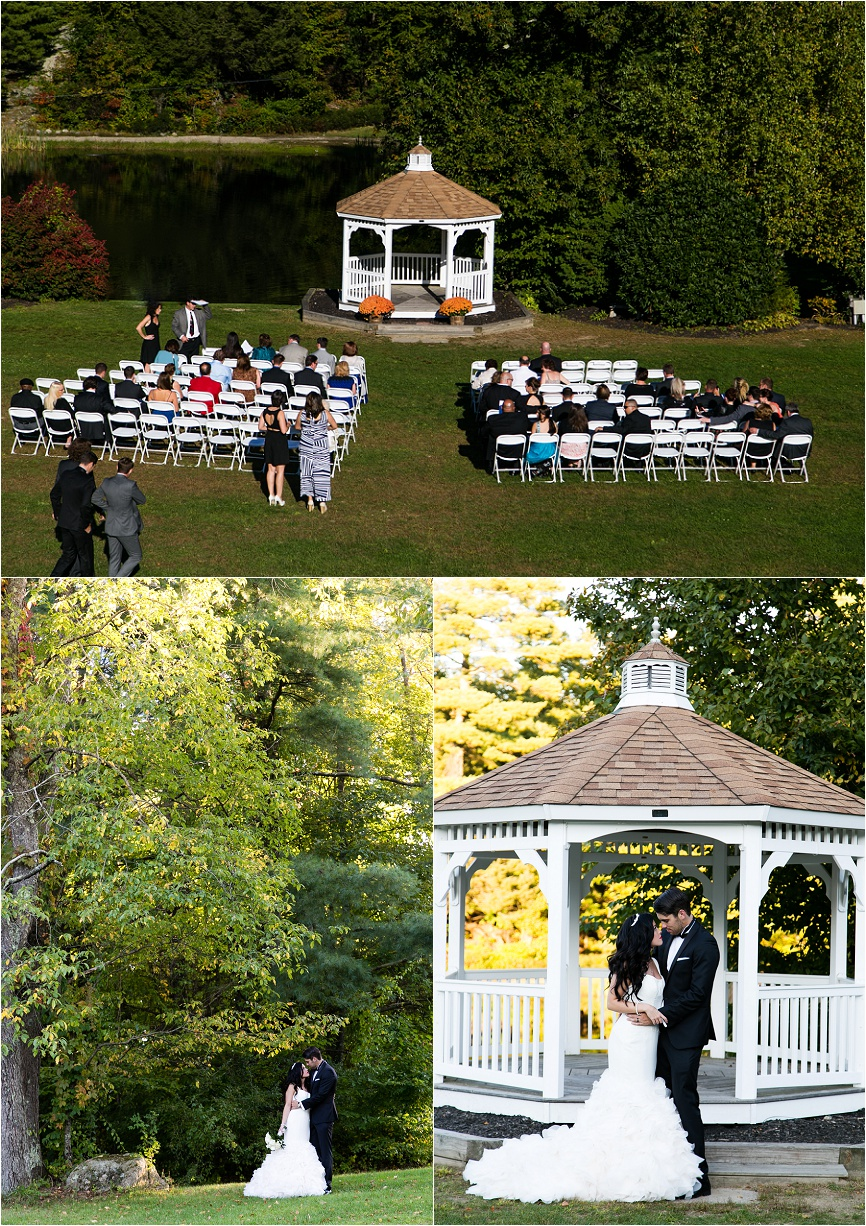 Photo of a rustic outdoor wedding at The Village at Boulder Ridge Barkhamsted, CT by Jeff Lundstrom Photography