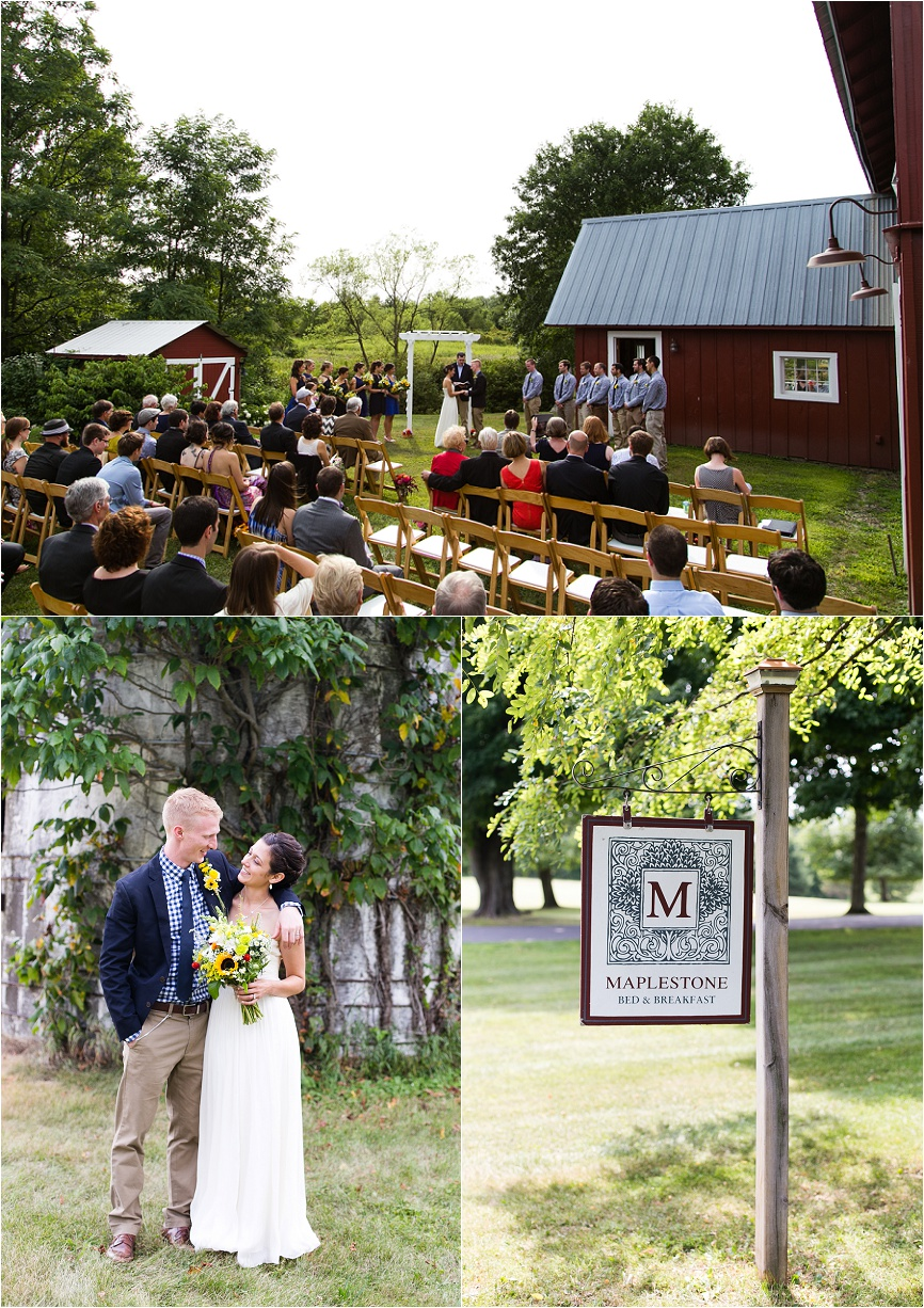 Photo of a rustic outdoor wedding at Maplestone Inn in New Paltz, NY by Jeff Lundstrom Photography