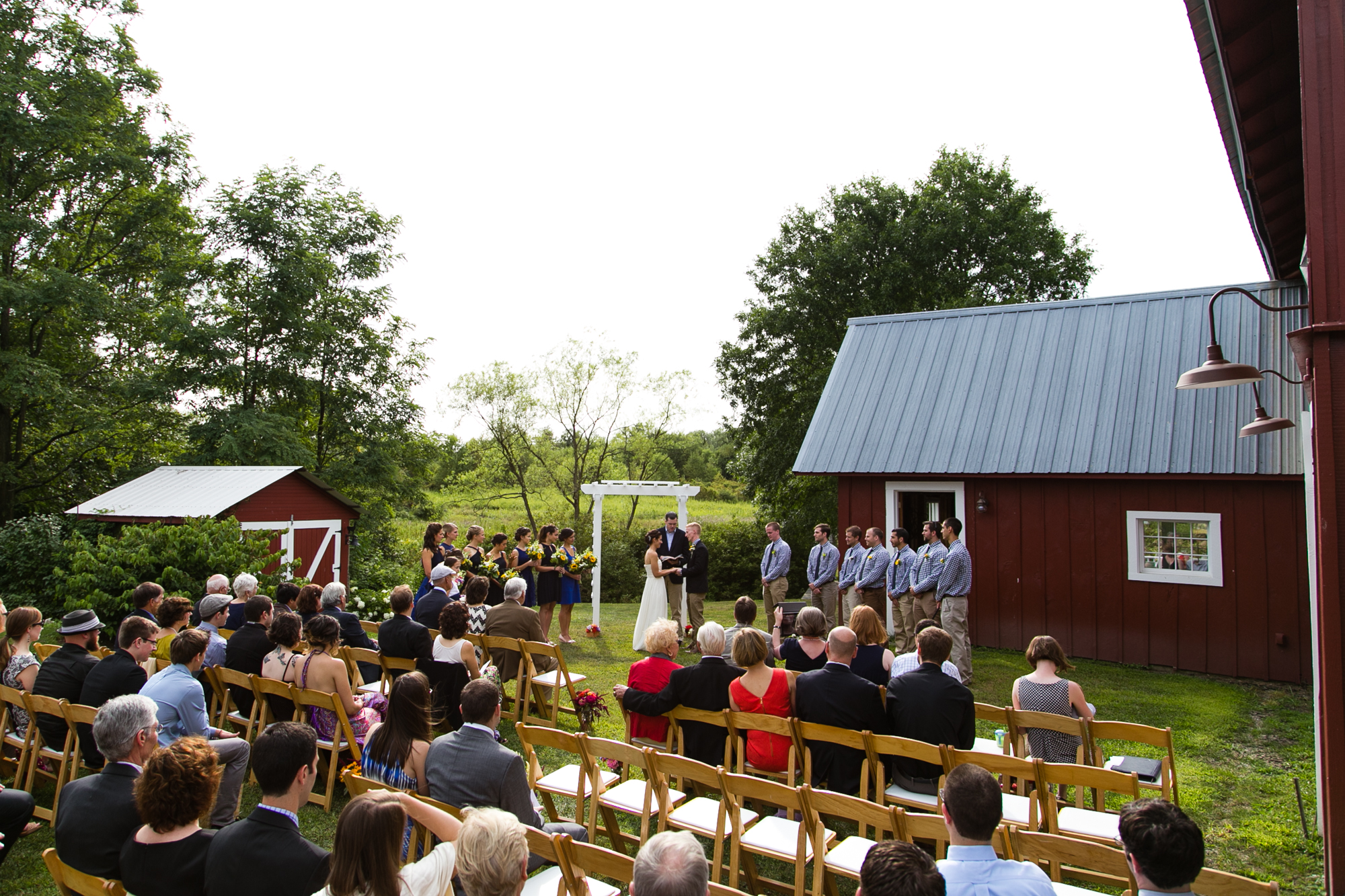 Photos of a rustic wedding ceremony at Maplestone Inn in New Paltz, NY by Jeff Lundstrom Photography