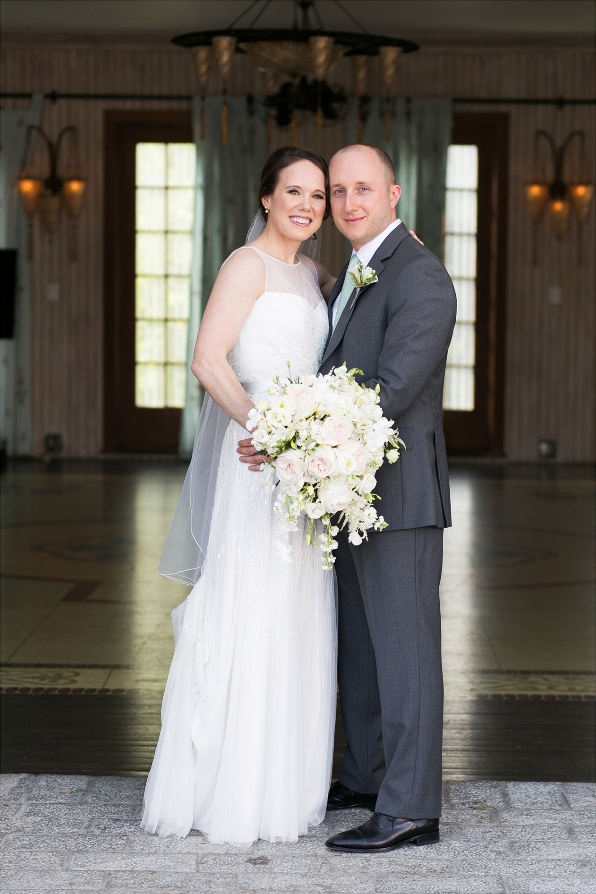 Photo of a bride and groom at the Delamar Hotel in Southport, CT