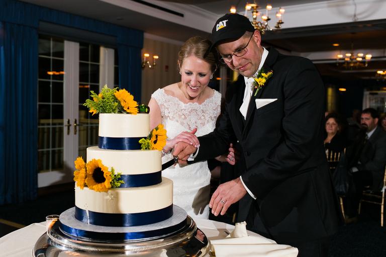 The much anticipated cake cutting ritual..