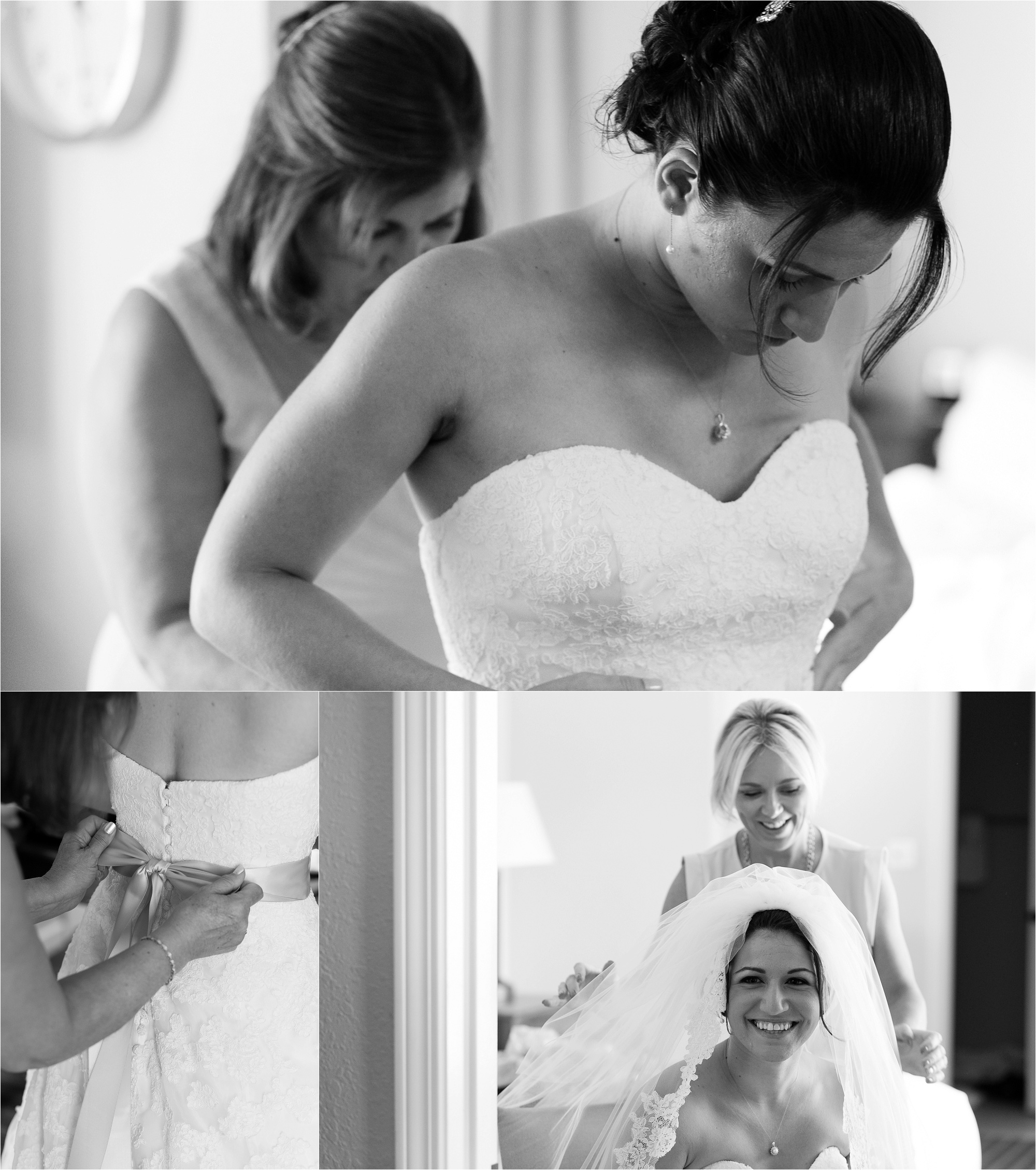 I love all the candid moments during the bride's getting ready prep