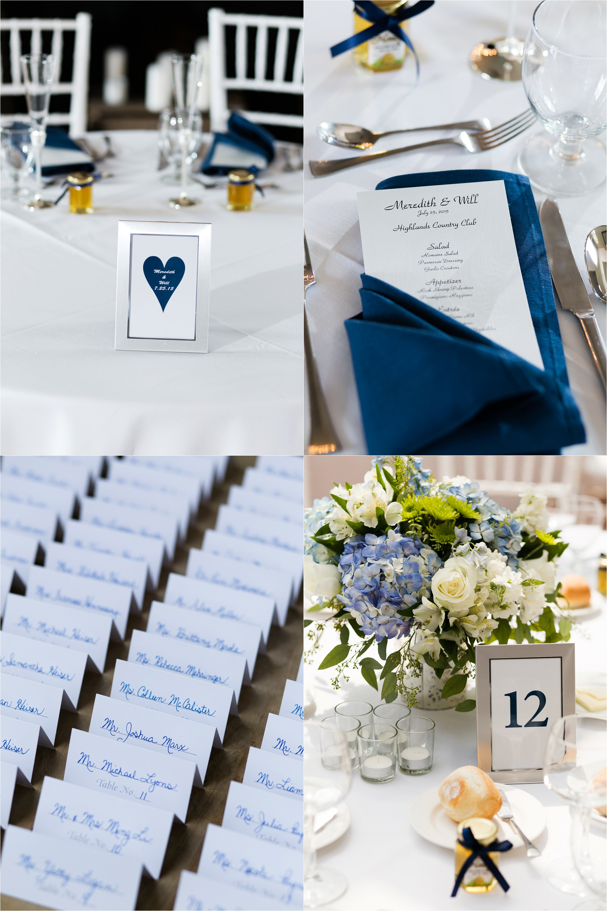 Photos of the reception details