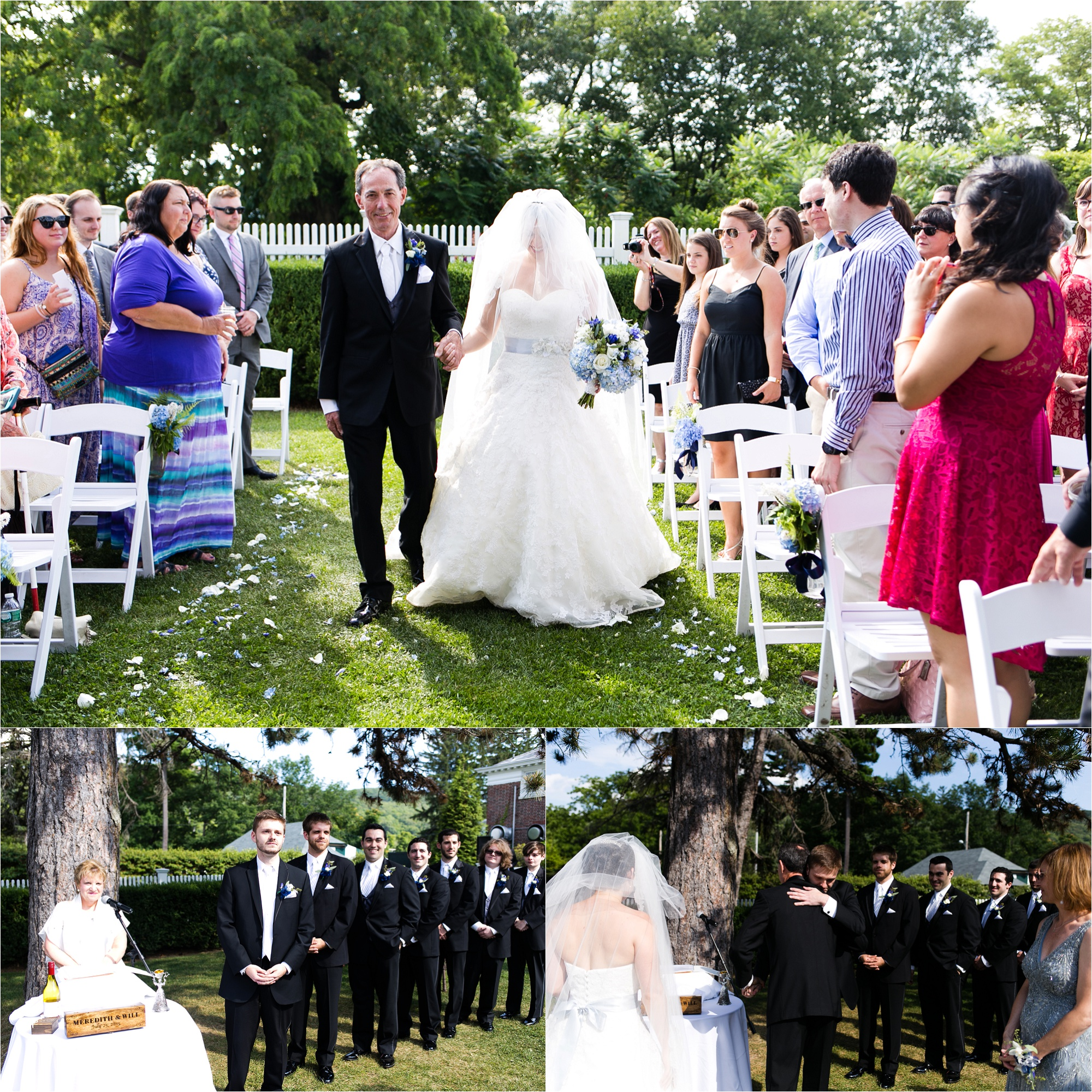 Highlands Country Club is a gorgeous venue for an outdoor wedding ceremony