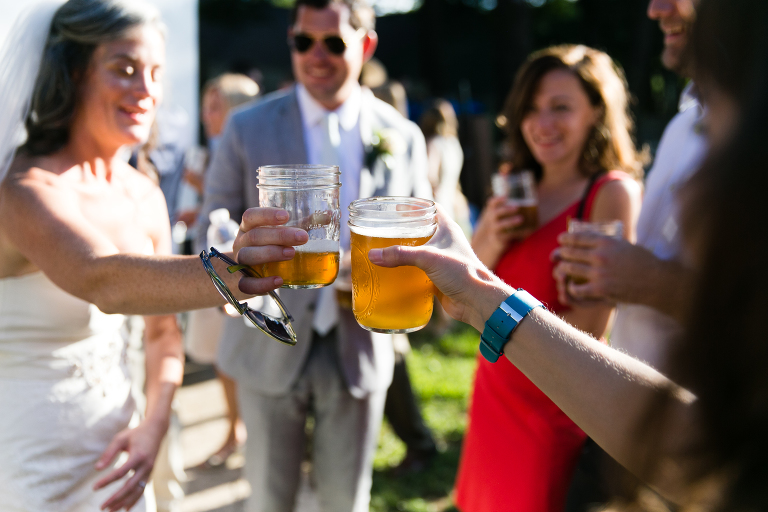 Cheers! Couples deserve to enjoy their cocktail hour.
